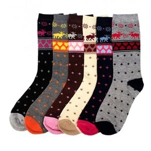 PACK OF 12 : Mid-Rise Socks Set 70501_FAIRISLE